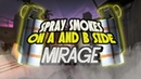 SPRAY SMOKES A and B SIDE MIRAGE РАСКИДКИ СМОКОВ НА А и B НА МИРАЖЕ