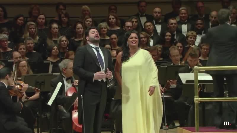 "Richard Tucker Gala 2018 Anna Netrebko u0026 Yusif Eyvazov Vicino a te"" Andrea Chenier Giordano"