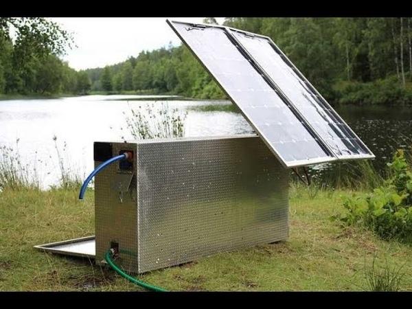 Suecos criam máquina de Purificação de Água com Energia Solar