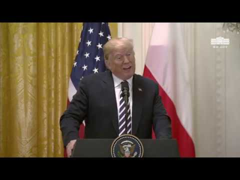 President Trump Hosts a Joint Press Conference with the President of the Republic of Poland