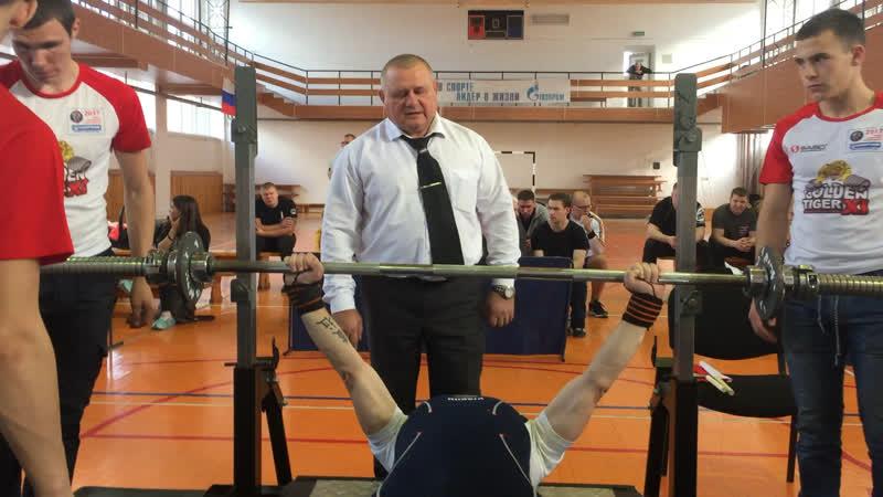 Народный жим 1/2 веса 30 кг 69 повторений!