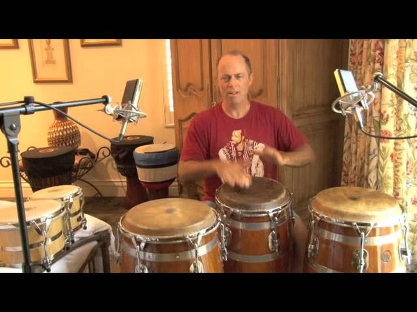 HR Percussion Conga Drum Demo on 3 Congas ;Guarapachengueo