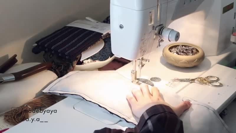 DIY MINI BACKPACK _⁄ THRIFT FLIP Refashion _⁄ リメイクファッション _⁄ Costura _⁄ Sewing Tutorialㅣmadebyaya