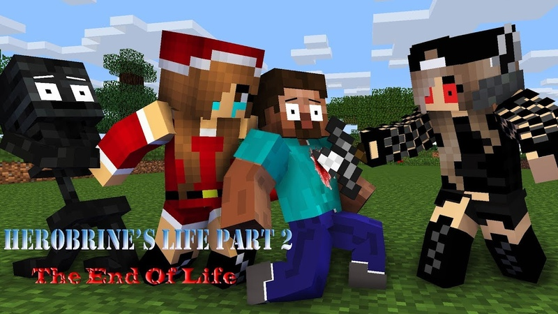 Monster School Herobrine's Life Part 2 The End Of Life Minecraft Animation
