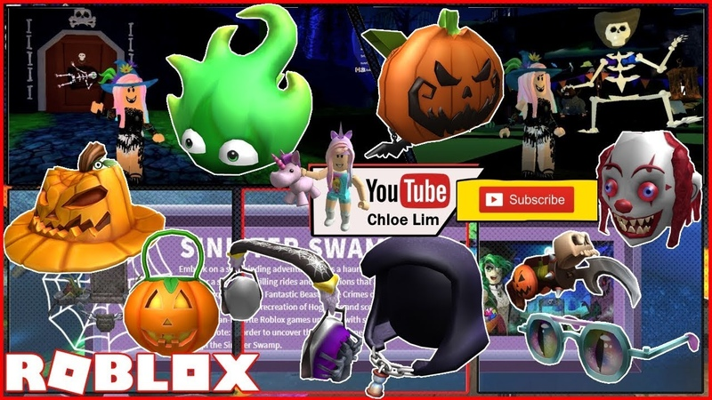 Roblox Sinister Swamp Gameplay! Getting 9 more Hallow's Eve Event Items! Loud Warning!