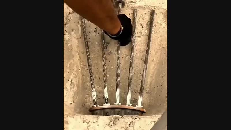 Оборудование для натяжении тросов, а также арматуры