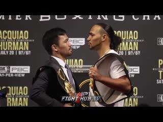 Manny pacquiao vs keith thurman - face off мэнни пакьяо - кит турман - лицом к лицу