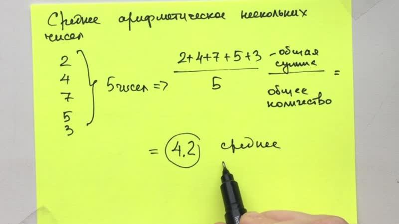Среднее арифметическое нескольких чисел за 30 секунд
