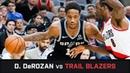 DeMar DeRozan's Highlights 36 PTS 6 AST 2 STL vs Trail Blazers 02 12 2018