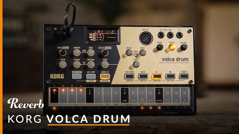 Korg Volca Drum Digital Percussion Synthesizer   Reverb Demo Video