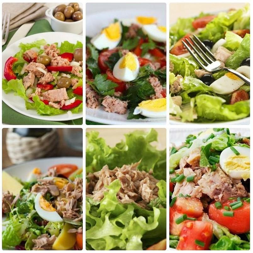 6 идей салатикoв с тунцoм