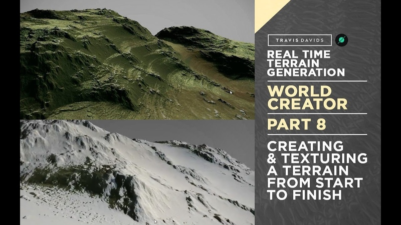 World Creator Introduction - PART 8 - Creating Texturing A Terrain From Start To Finish