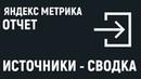 Яндекс Метрика. Отчет: Источники - сводка.
