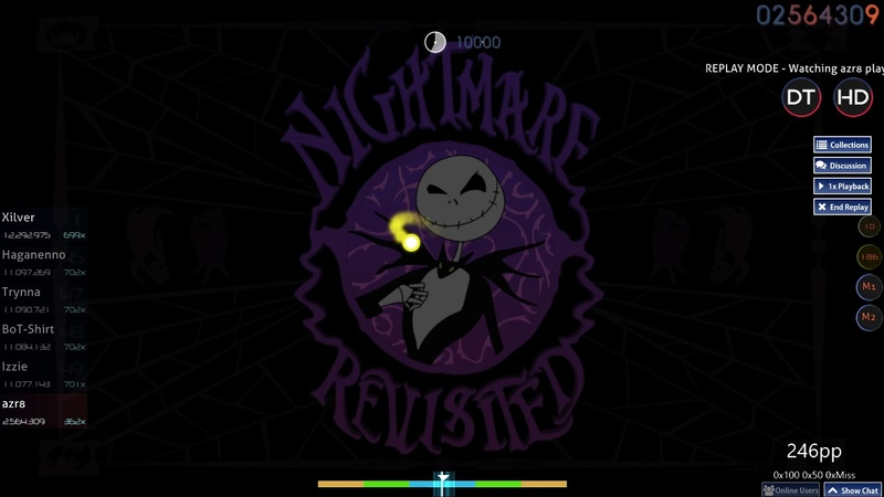Osu! | azr8 | Rise Against - Making Christmas [Nightmare] HD,DT 99.27% FC 1 464pp