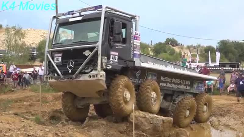 8x8 Mercedes-Benz truck in Europe truck trial _ Off-Road _ Langenaltheim, German