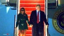 President Trump, First Lady Melania Trump arrive in Washington, DC after a surprise visit to troops