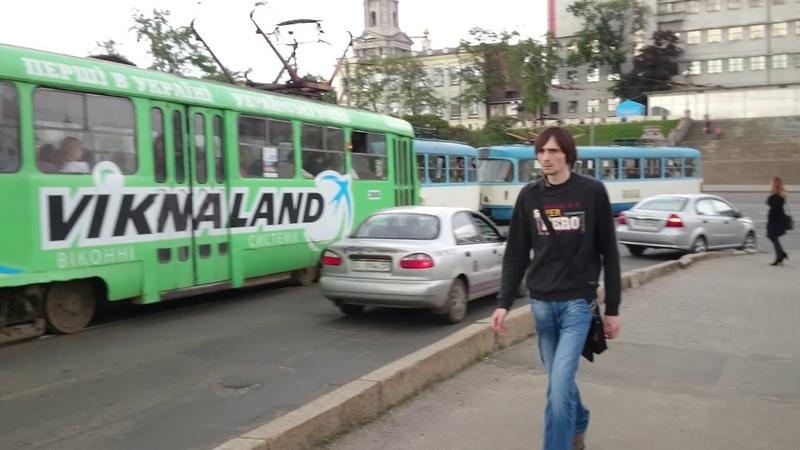 Харьков, Полтавский шлях (улица Свердлова) Большой Лопанский мост через реку Лопань