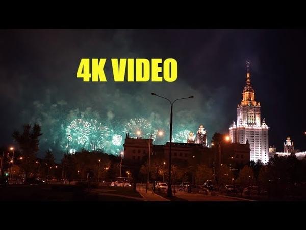 САЛЮТ У ЗДАНИЯ МГУ 4K VIDEO Sony A7III TEST Night video SONY ILSE -7M3 celebration salute in Moscow