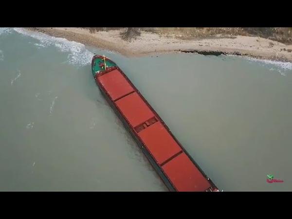 В Темрюкском районе корабль сел на мель