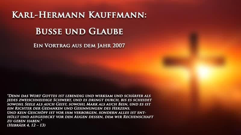 K.-H. Kauffmann Buße und Glaube