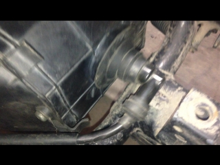 Зазор между рамой скутера и свечным колпачком при установке мотора АД110