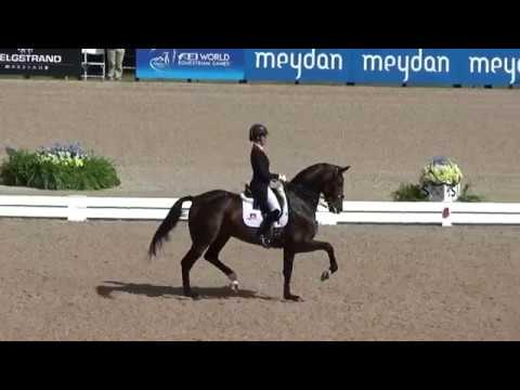 Charlotte DuJardin and Mt St John Freestyle at The World Equestrian Games 2018 at Tryon, NC USA