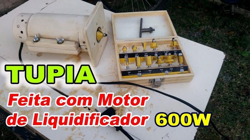 Tupia Manual com Motor de Liquidificador (600W)