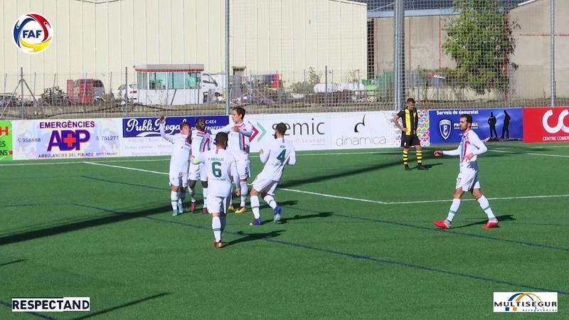 RESUM Lliga Multisegur Assegurances, J7. U. E. Santa Coloma - Futbol Club Lusitanos (0-2)