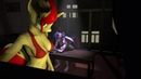 Twilight and Sunset Shimmer Feel the Pressure 60 FPS SFM Anthro Ponies