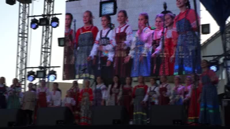 Выступление ансамбля Родничок на праздновании дня города Саратова 2018 песня Коляда