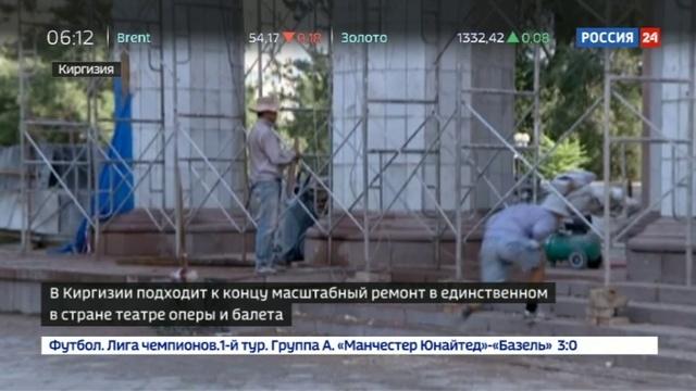 Новости на Россия 24 • В Киргизии восстанавливают исторический облик Театра оперы и балета