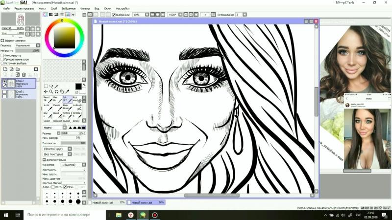 Процесс рисования Даша