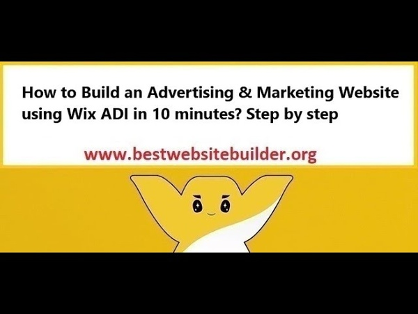 How to build an Advertising Marketing Website using Wix ADI in 10 minutes? Step by step