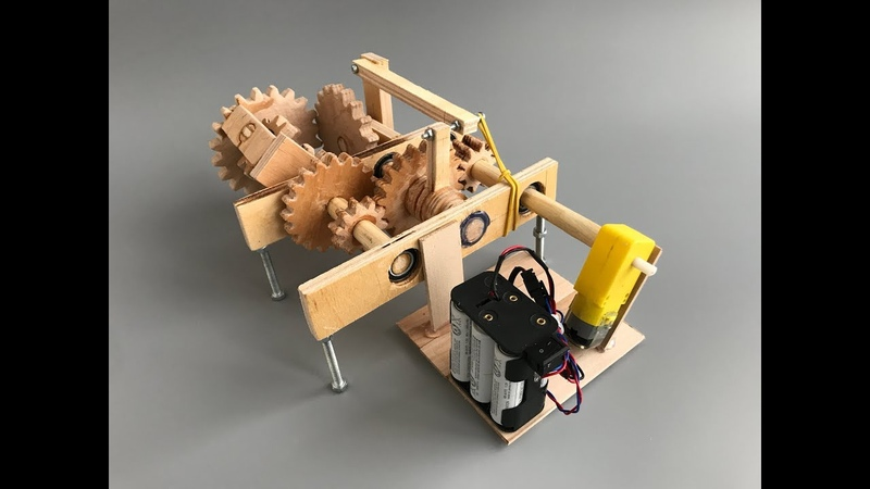DIY 2 speed Automatic Gearbox from plywood