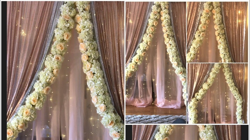DIY-Two layer PVC pipe backdrop stand DIY-floral foam garland Diyfloral garland DIY-backdrop decor