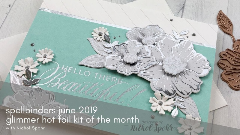 Spellbinders June 2019 Glimmer of the Month Club Kit, Radiant Flower