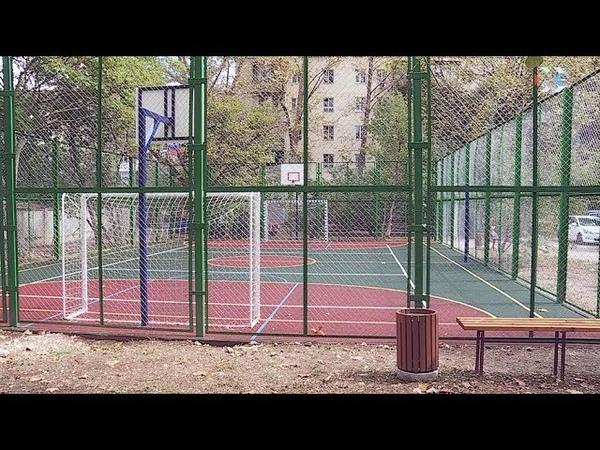 В Ленинском районе официально открыли еще одну спортивную игровую площадку