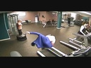 Neil bites it trying to take Buffalo Bills hoodie off while on treadmill