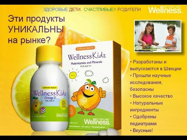 Wellness kids by Oriflame. Мультивитамины и минералы для детей