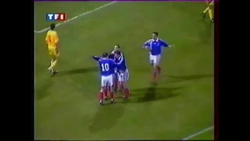 Отборочный матч чемпионата Европы 1996. Румыния - Франция (обзор)