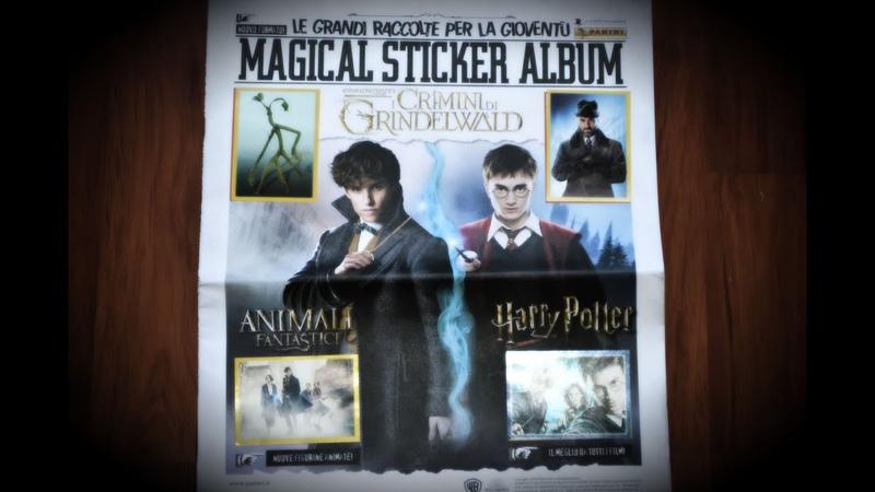 Обзор наклеек Фантастические твари и Гарри Поттер 1