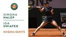 Simona Halep vs Iga Swiatek - Round 4 Highlights | Roland-Garros 2019