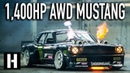 Ken Blocks 1,400hp AWD Ford Mustang Hoonicorn V2 Straight from Gymkhana TEN!