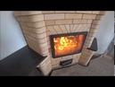 Угловая печь с большой каминной дверкой и хлебной камерой часть 1