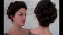 Pompadour Puffs an Edwardian Updo Tutorial meduim long hairstyle Vintagious