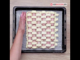 Как приготовить пирог с сосисками