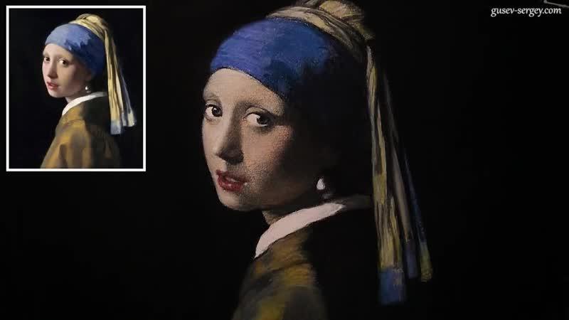 Девушка с жемчужной сережкой. Пастель