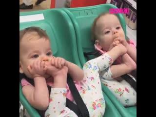 Очень милое видео с близнецами