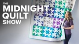 2-at-a-Time HALF SQUARE TRIANGLES Quilt S6E1 Midnight Quilt Show with Angela Walters