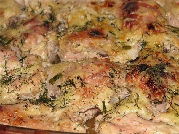Курица в кефире. Аппетитное и вкусное блюдо!